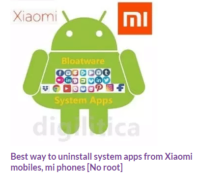 how to uninstall xiaomi quick apps