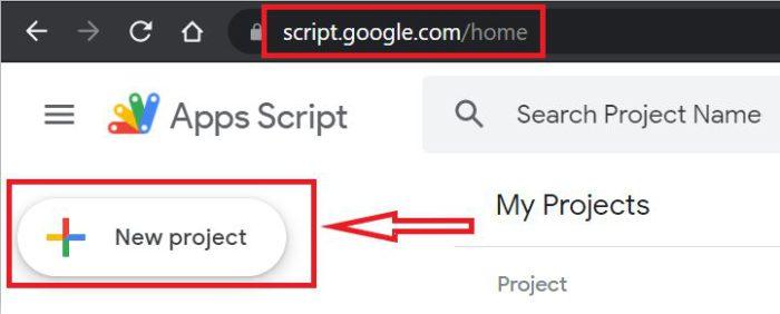 Google App Script Home Page