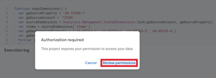 Google App Script Review Permissions