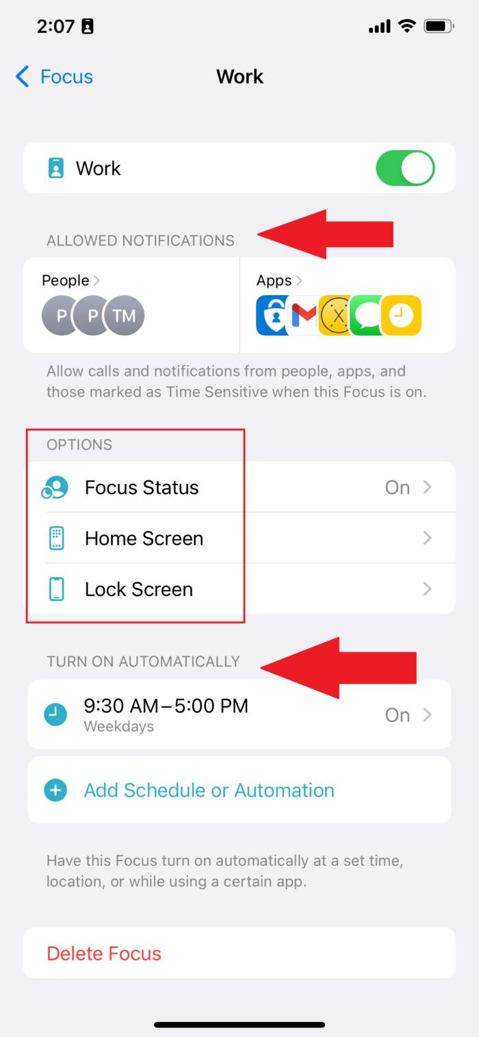 Focus mode increases productivity in iOS 15